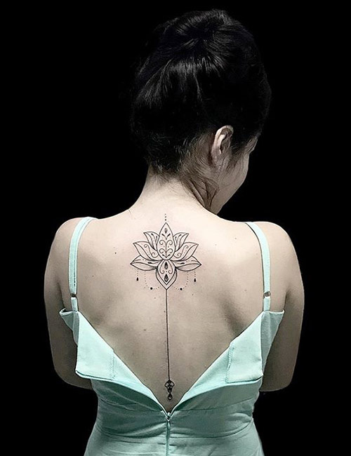 Tribal Tattoo With Lotus