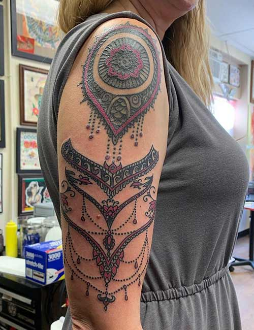 Shoulder Tribal Tattoo Design Meanings