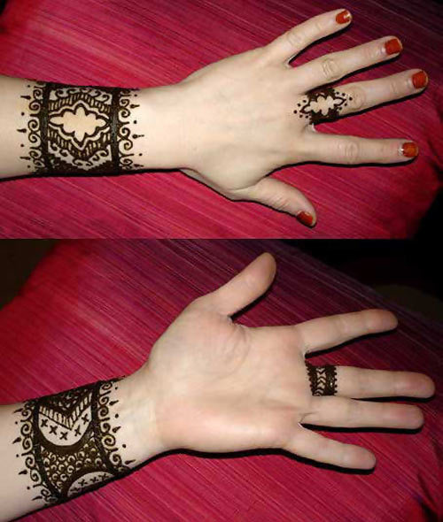 Wrist Mehndi Designs Collection