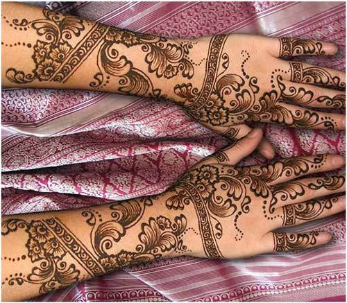 Back Hand Side Mehandi Design 6