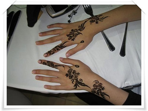 Back Hand Side Mehandi Design 7