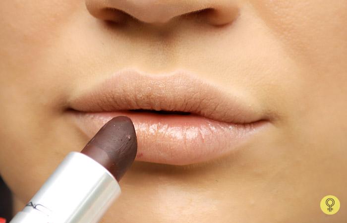 Use a Deep Maroon Shade - Black Lipstick