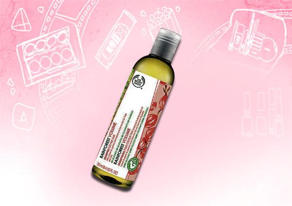 body shop rainforest volumising shampoo
