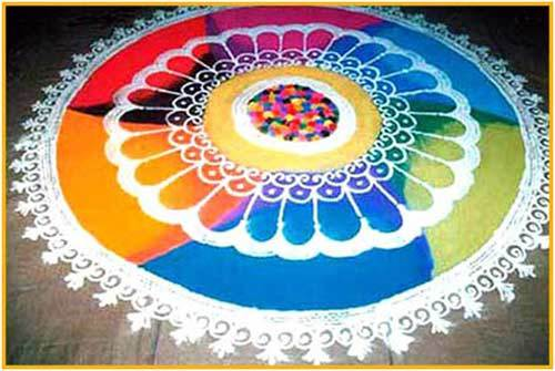 bright rangoli design