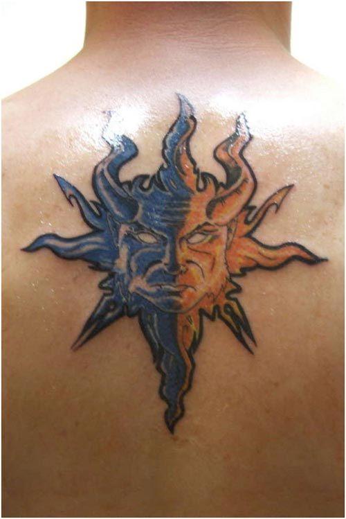 celestial star tattoos