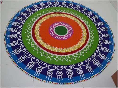 colourful circular rangoli