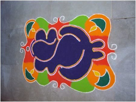 colourful rangoli designs