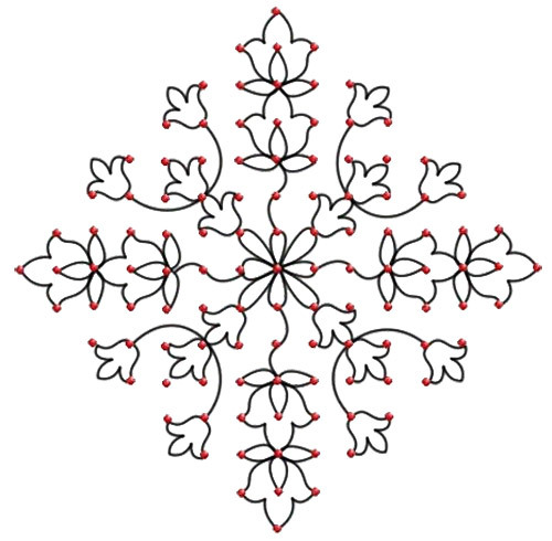 dot rangoli patterns