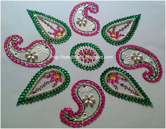 drop shapes for rangoli