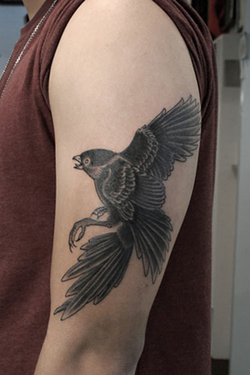 falcon tattoo design