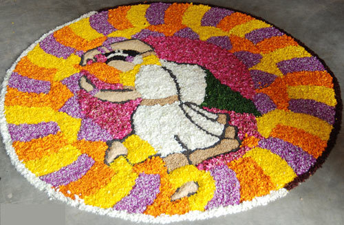 flower rangoli presents