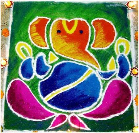 Latest Ganesh Chaturthi PooKolam Pictures for free download