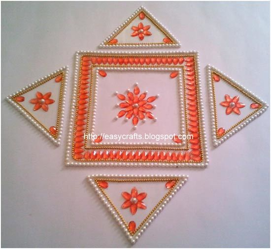 geometric shapes rangoli