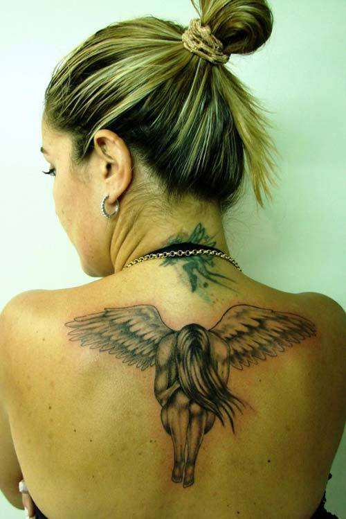 guardian angel tattoos for women
