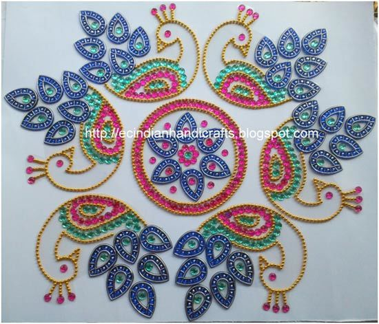 Top 40 Kundan Rangoli Designs To Try In 40 Unique Decorative Rangoli Designs With Stones And Kundans