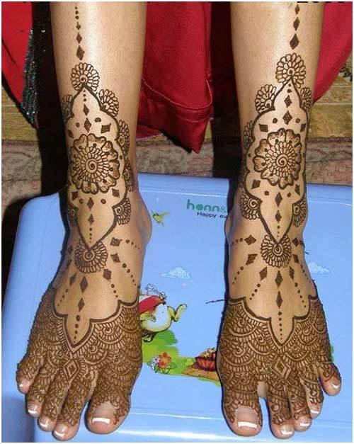 leg mehndi designs easy