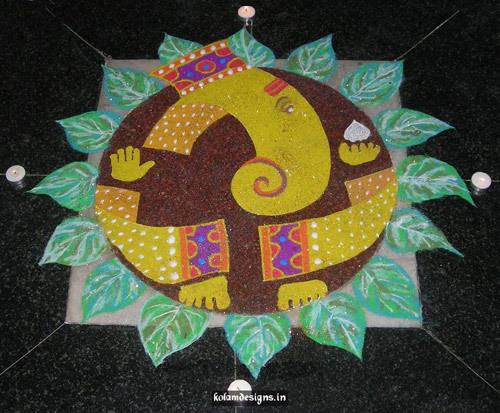 lord Ganesh rangoli