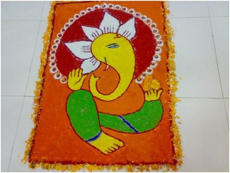 Best Happy Ganesh Chaturthi PooKolam Pictures for free download