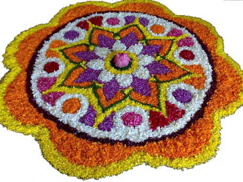 onam pookalam photos