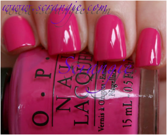 opi kiss me on my tulips swatch