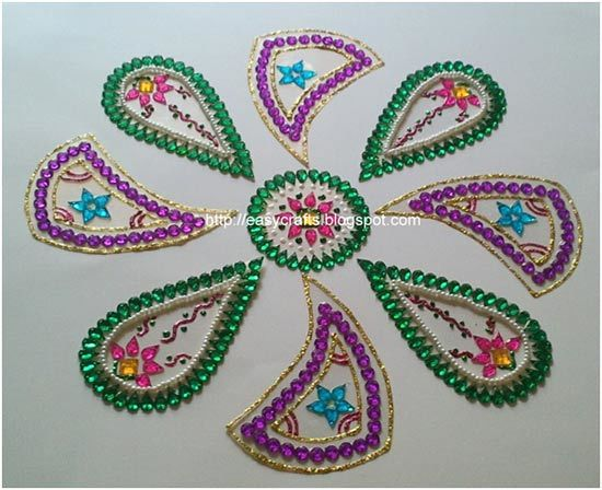 pattern rangoli designs using shapes