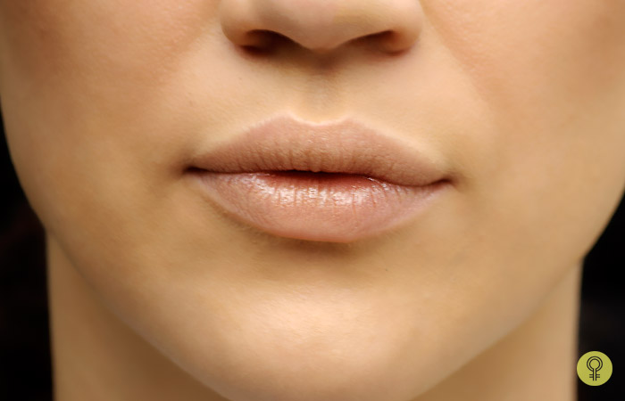 prepping your lips using a lip balm