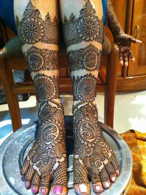rajasthani mehndi designs for feet