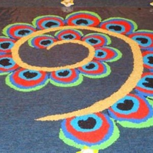 10 Admirable Peacock Rangoli Designs To Try In 2018