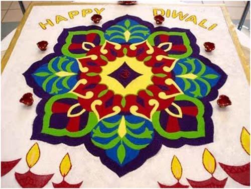 rangoli celebrate diwali