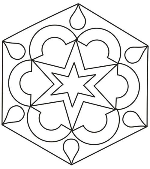 rangoli coloring pages for kids