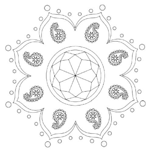 rangoli colouring pages