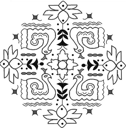 rangoli designs with dots books
