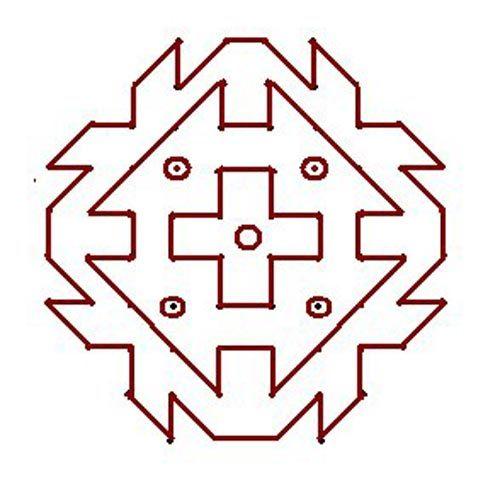 rangoli designs with dots small