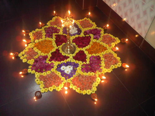 beauty flower rangoli design