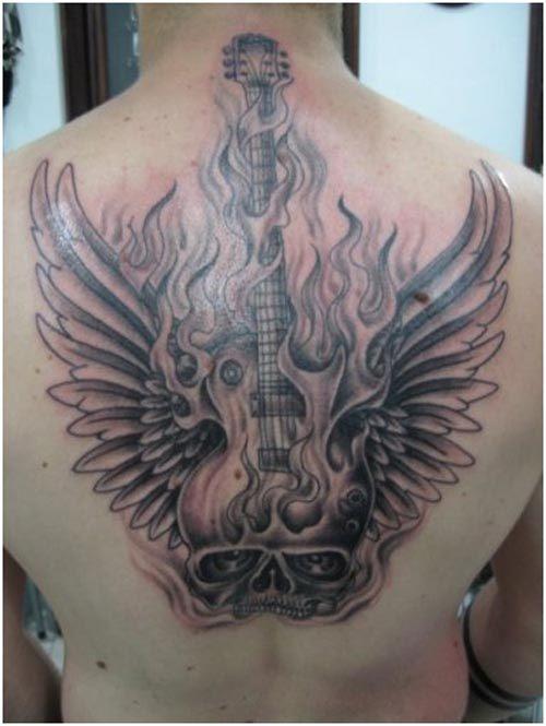 rock music tattoo