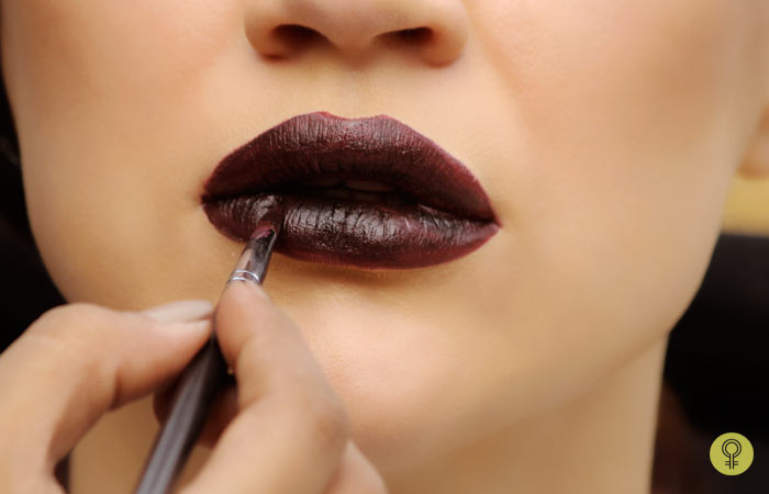 Repeat The Same For Lower Lip - Black Lipstick