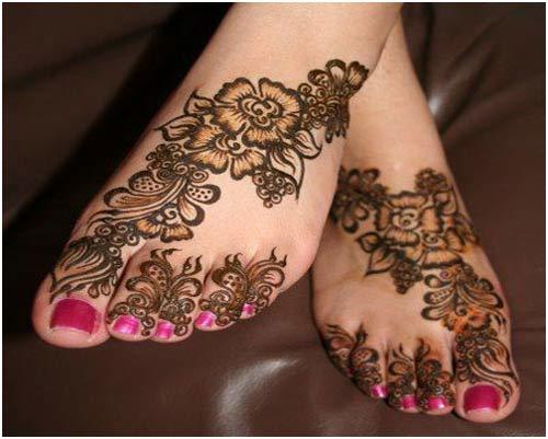 Mehndi Patterns For Legs : Best leg mehndi designs to try in