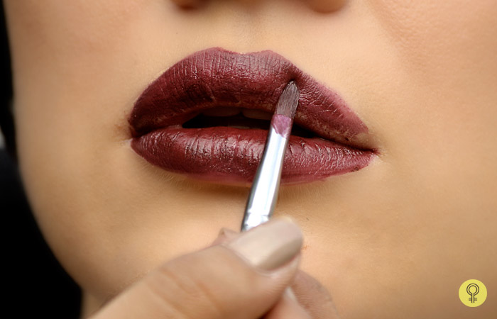 Use A Thin Lip Brush - Black Lipstick