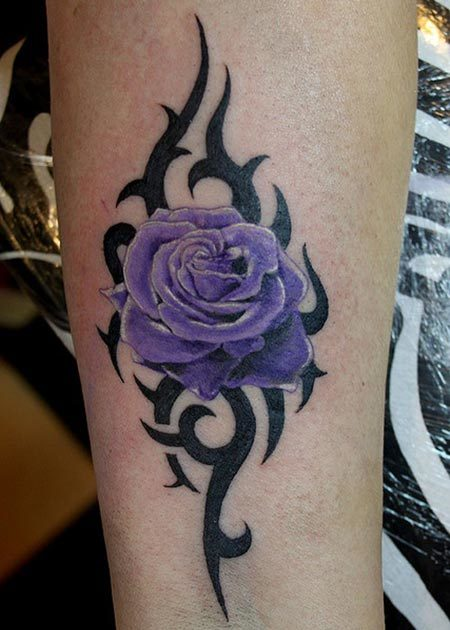 tribal rose tattoos