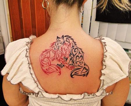 tribal wolf tattoos