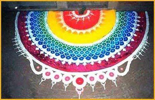 very vibrant Rangoli