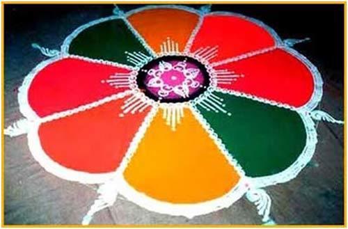 vibrant rangoli design
