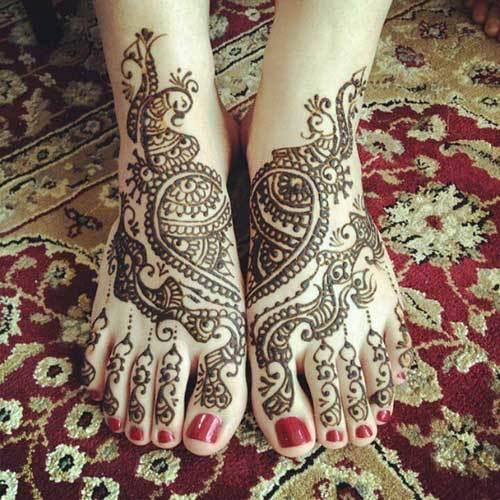 wedding mehndi designs for legs