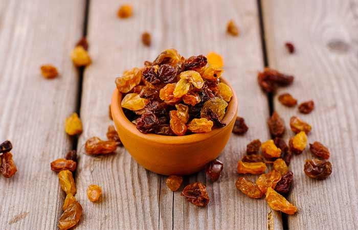 Purines - Raisins