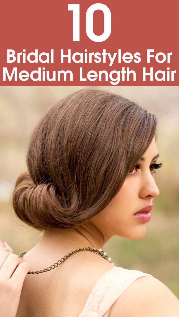 Incredible 10 Bridal Hairstyles For Medium Length Hair Short Hairstyles For Black Women Fulllsitofus