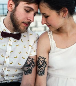 10 Classy Couple Tattoo Designs
