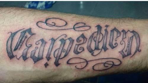 24. Carpe Diem Tattoo