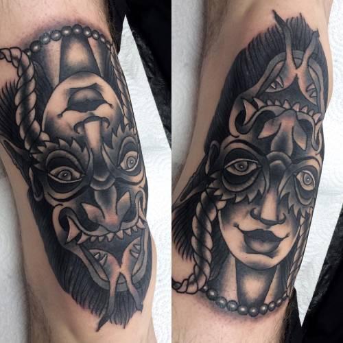 27. Facial Ambigram Tattoos