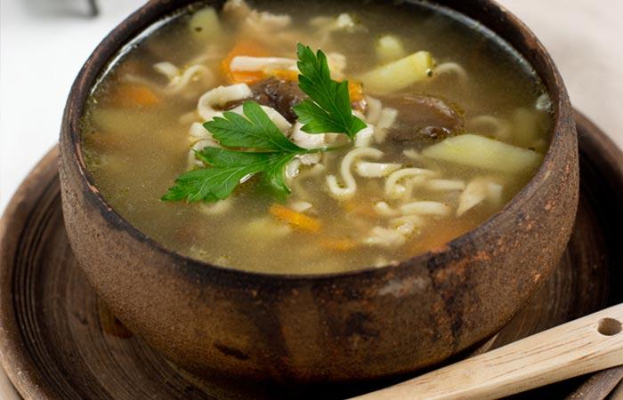 Low Carb Diet - Mushroom Clear Soup