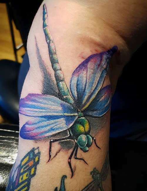 3D Dragonfly Tattoo Design